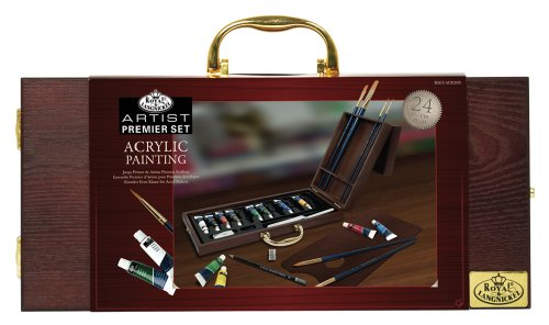 (Royal & Langnickel Premier 24 Piece Acrylic Painting Artist Case)