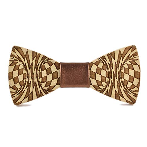 - Wedding Bow Ties for Men Men's Women's Wooden Bow Tie High End Abstract Cut Wooden Bow Tie Casual Shirt Wooden Bow Tie Tuxedo's Bow Tie (Color : Gold, Size : 59.5cm)