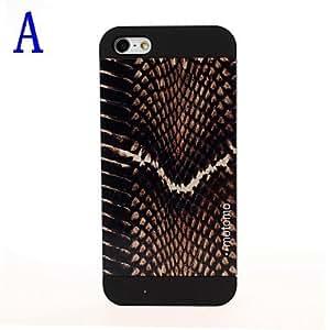 CL - Modelo de la piel de la serpiente brillante caja de plástico mate para iPhone 5/5S , C