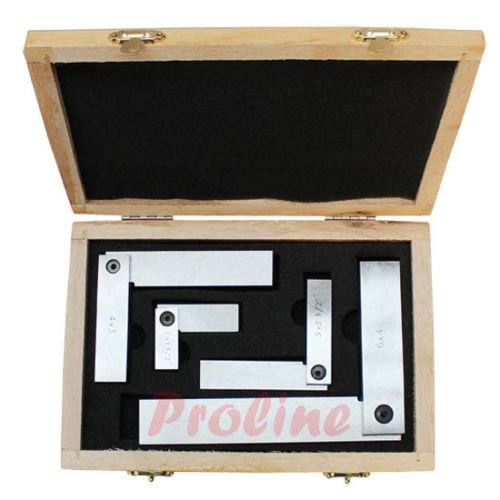 4 PC Machinist Hardened Steel Square Set Include 2'', 3'', 4'', 6'' Right Angle by Generic (Image #2)