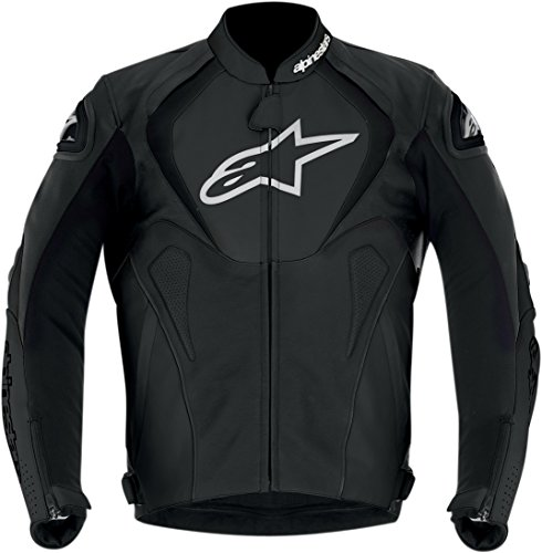 Alpinestars Jaws Leather Jacket - Black European Size 60 - 3101013-10-60 PS