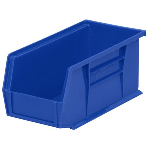 12 Hopper Bins - Akro-Mils 30230 Plastic Storage Stacking Hanging Akro Bin, 11-Inch by 5-Inch by 5-Inch, Blue, Case of 12