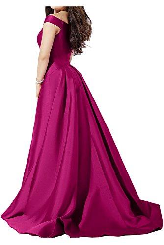 Satin Lang Neu Inkblau Neu Abendkleider Ballkleider Ivydressing Glamour Partykleid xCwHf