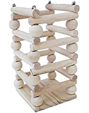 F Fityle Hay Feeder/Feeder Rack - Ideal for Rabbits/Guinea Pigs/Chinchillas/Hamsters - Keeps Grasses Clean and Fresh - Wooden Color