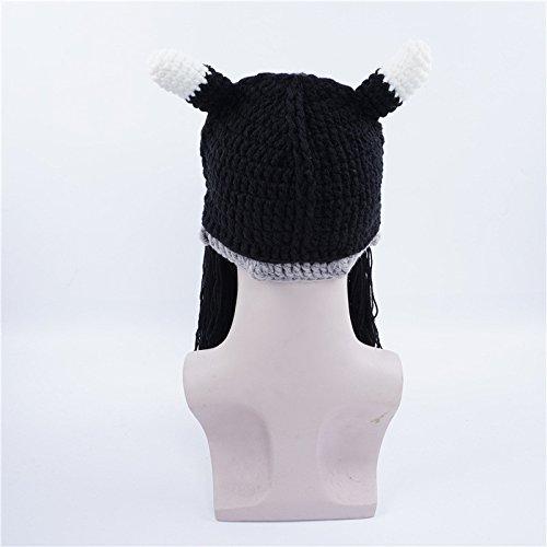 Gysad Fiesta Invierno Divertido Interesante Planas Sombrero de Gorras Sombrero Unisex Vikingos Sombrero Negro AAgrq