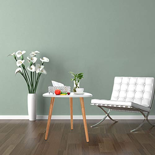 YRD TECH Living Nordic Minimalist Modern Irregular ShapeTable 50×48cm/19.68×18.89 Inch White, 3 Foot (White) by YRD TECH (Image #2)