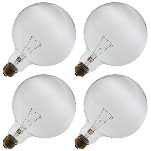 Industrial Performance 150G40/CL 130V, 150 Watt, G40, Medium Screw (E26) Base Globe Light Bulb (4 Bulbs) (Medium G40 Screw)