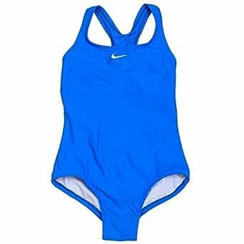 Amazon.com : Nike Girl's Core Solid Swimsuit Racerback