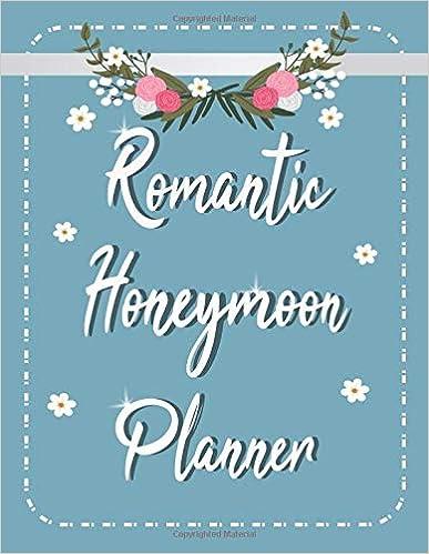 Romantic Honeymoon Planner Vacation Holiday Travel  Wedding Organizer