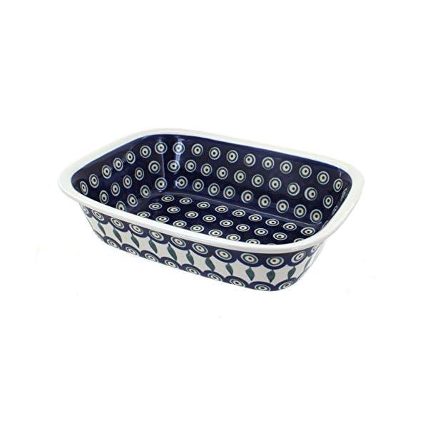 Polish Pottery Boleslawiec Oven Dish, Crumble, 18.3cm x 25cm in LEAF pattern