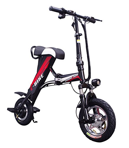 XINAO Folding Electric Vehicle Without Pedal Mini Bike Outdoor Riding Electric Vehicle Lithium Battery Skateboard Bike Adult Portable Motorcycle (Black) For Sale