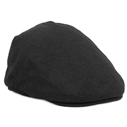 (Primitive Wing Men's Winter Warm Wool Newsboy Cap Black)