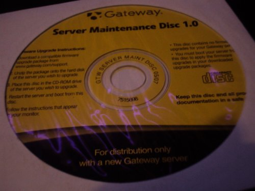 Gateway Server Maintenance disc - Server Gateway