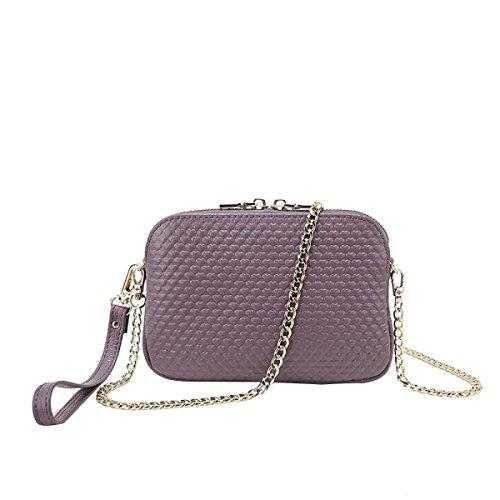Bolso Casual De La Moda De Piel De Mujer Pequeña Bolsa Cuadrada Purple