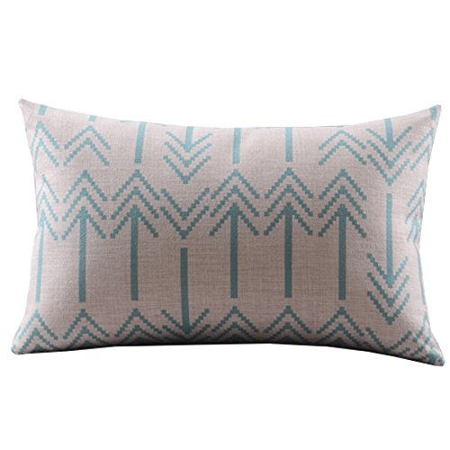 DECORLUTION Cotton Linen Decorative Pillowcase Throw Pillow
