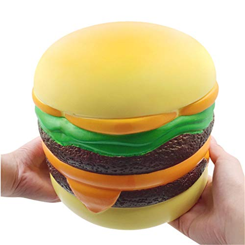 WFFO Slow Rising Squishy Toy, Jumbo Giant Hamburger Scented Super Slow Rising Kids Toy Stress Reliever Toy (Colorful)
