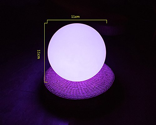 LED Outdoor Ball Light, Rechargeable Pool Light, Cordless Garden Light With Remote Control, RGB Color Changing Party Light, IP68 Waterproof LED Night Light (11cm) by Generic
