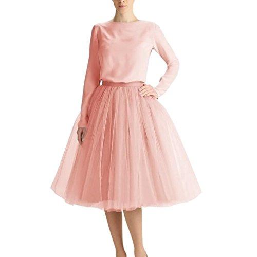 WDPL Adult Tulle Skirt Bridesmaid Petticoat Tutu for Women Light Dusty Pink 2XL -