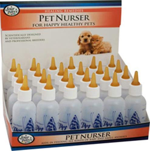 Four Paws Pet Products 24-Pack Nurser Bottles, 2-Ounce