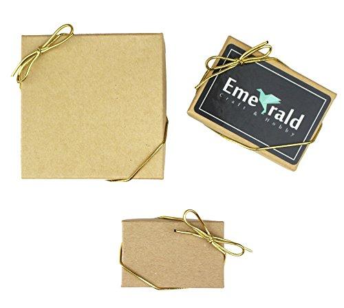 Lazos elásticos metálicos, cintas elásticas, lazos para caja de regalo, paquete de 50, Dorado, 15.24 cm