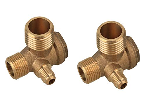 Liyafy Total Size10x14x16mm Brass Male Threaded Air Compressor Check Valve Central Pneumatic 2Pcs