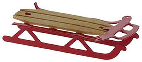 Dollhouse Miniature Red Flyer Sled by International Miniatures by Classics Classic Flyer Sled