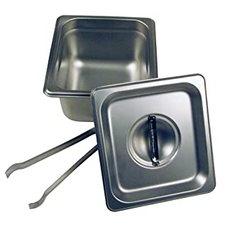 Paragon - Manufactured Fun Steam Pan Set with Lid and Tongs, 4-Inch