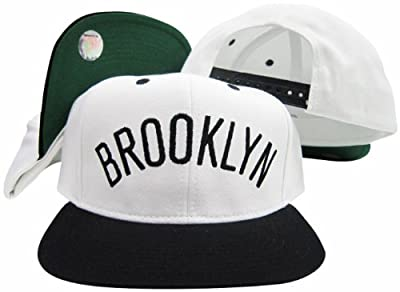 Brookyln Nets Solid Word Adjustable Snapback Hat / Cap