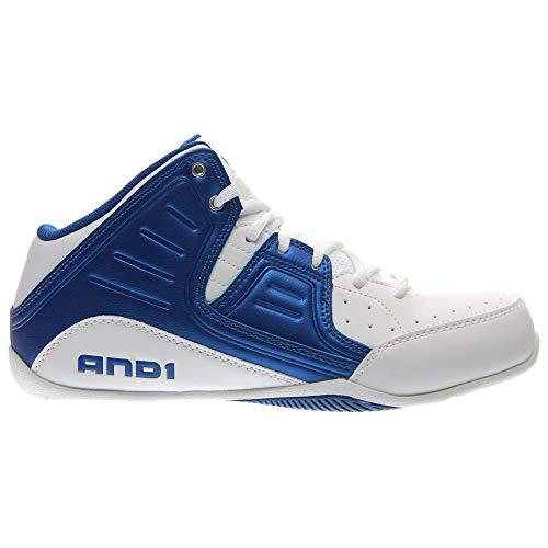 Image of the AND1 Men's Rocket 4.0 Mid Sneaker,Bright White/Royal/Bright White,US 9.5 M