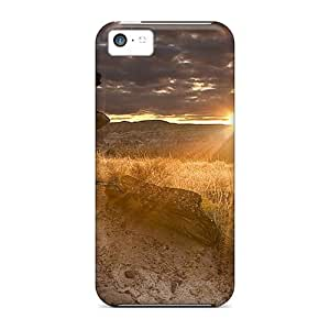 5c Scratch-proof Protection Case Cover For Iphone/ Hot Nature In The Desert Sun Phone Case