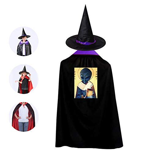 St. Alien Cloak with Witch Hat Vampire Wizard Magician Cape -