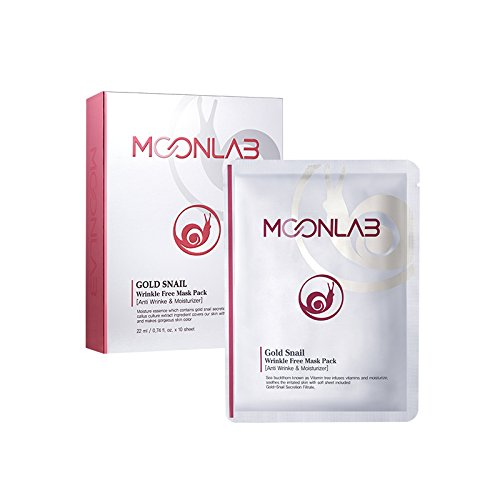 Fp Aloe ([MOONLAB] Gold Snail Wrinkle-Free Sheet Mask – Anti Aging, Improves The Skin Texture, Regeneration of The Skin, Pure Cotton Sheet, Pack of 10pcs)