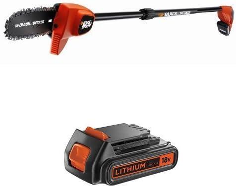 BLACK AND DECKER SEGA GPC1820L20-QW + Black and Decker BL2018-XJ - Batería de litio tipo carril ...