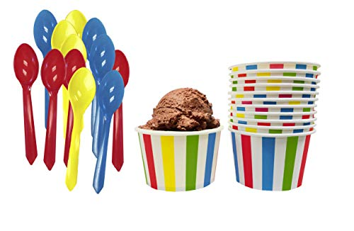 red and white ice cream cups - 9