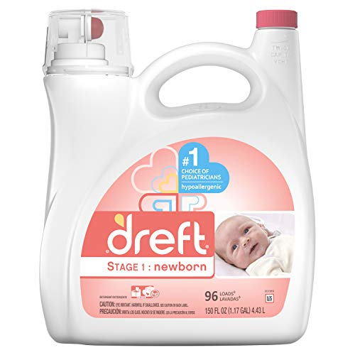 Dreft Stage 1: Newborn Liquid Laundry Detergent (HE), 150 oz, 96 loads