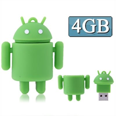 CAOMING 4GB Android Robot Style USB Flash Disk (Green) by CAOMING