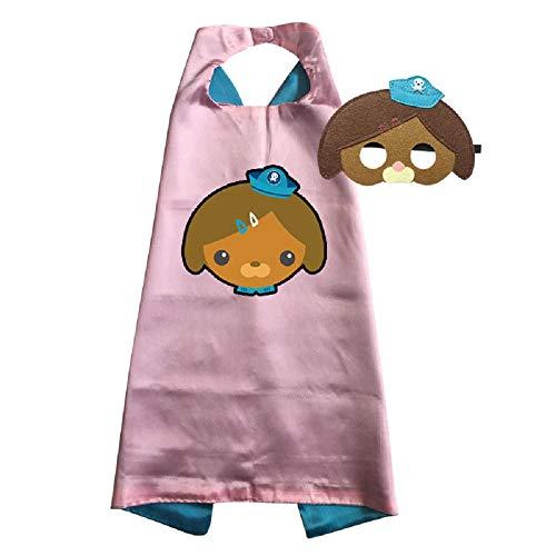 Octonauts Cape and Mask Costumes Kids Birthday Party Shellington Kwazii Barnacles Dashi Peso Cosplay (Dashi)