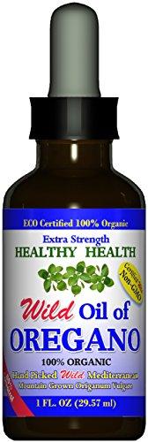 Extra Strength Wild Mediterranean Turkish 100 Eco Certified Organic Oil of Oregano 85 Carvacrol