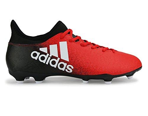 Adidas Mens X 16,3 Fg Röd / Vit / Core Svart Fotbollsskor
