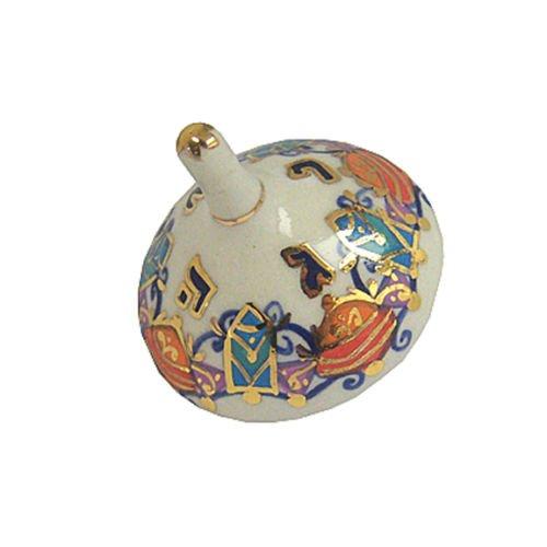 Hanukkah Chanukkah Dreidel Porcelain Hand Made MALI HIKRI Spinning Top 2'' x 1.75''