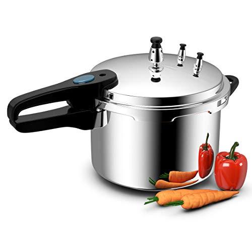 Costway 6-Quart Aluminum Pressure Cooker Fast Cooker Canner Pot Kitchen