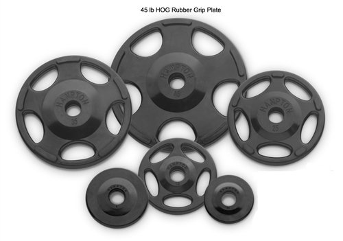 Weight Plate Rubber Grip Olympic Size: 45 lbs