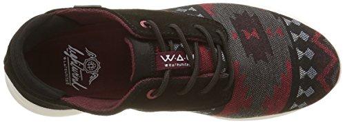 WAU Zapatillas Maroon Multicolore Lightwind Deporte de Mehrfarbig Mujer 5r5OqnF