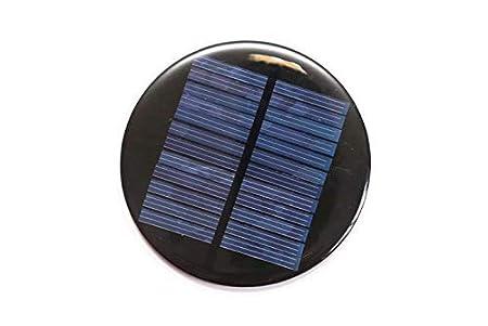 Pack of 2 /Solar for DIY / Solar Panel 6v-80mah / Solar Panel in Circle Shape/ Mini Solar panel/80- mm in Diameter /