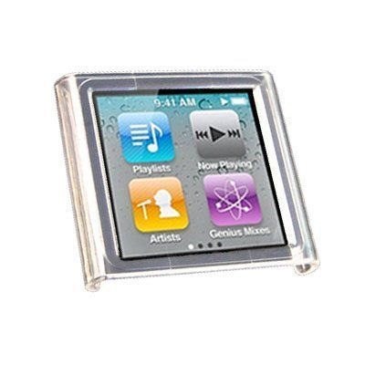 Clear Crystal Transparent Snap-On Hard Skin Case Cover for Ipod Nano 6th Gen Generation 6g 6 8gb 16gb 32gb New By Electromaster
