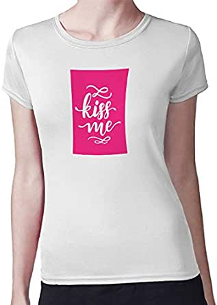 Kiss Me Women T-Shirt by Decalac - 19078