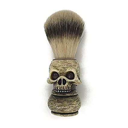 Shaving Brush Hand Crafted 100% Pure Badger with Resin Cute Shaped Handle Men's Luxury Professional Hair Salon Makeup Tool SZ04 (Skull) ZhuoLang