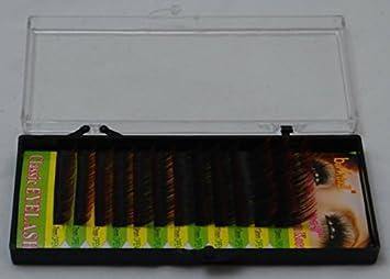f5ed34d9acc Amazon.com : Eyelash Extension 2 Tone Color Silk Mink