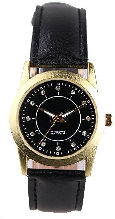 Fabricante Vender Cinturón negras Diamante Mujer Reloj, for Lady
