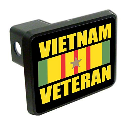 Slap-Art Vietnam Veteran Military 2 Tow Trailer Hitch Cover Plug